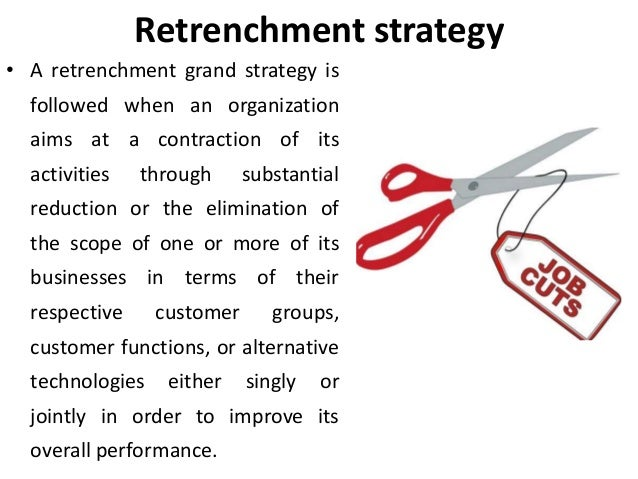 Retrenchment strategies corporate level strategies Strategic mana