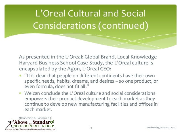 L'Oréal: a success story in international marketing to women