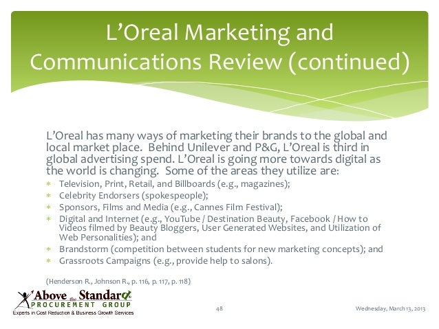 l oreal case study and the globalization of american beauty Case solution for l'oreal and the globalization of american beauty by geoffrey g jones, david kiron, vincent dessain, anders sjoman (harvard business school case study.
