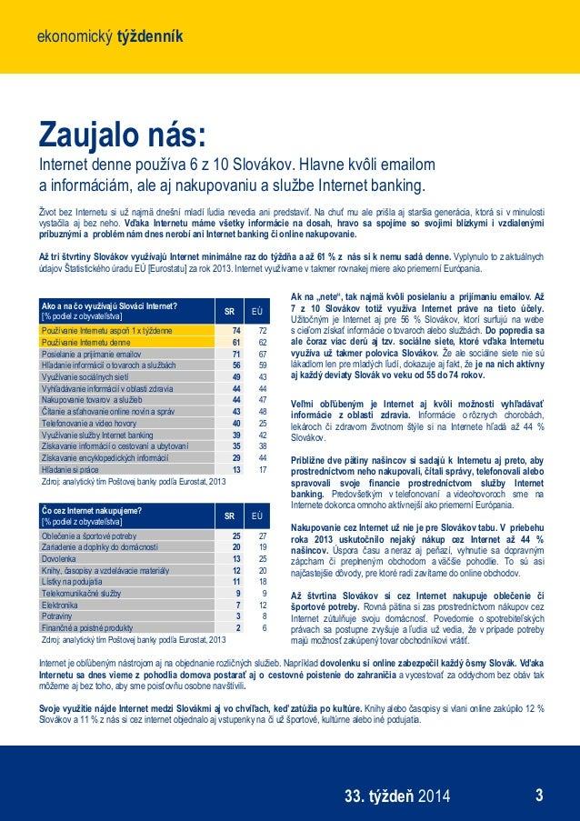 Ekonomický týždenník Poštovej banky - 33. týždeň 80d623388e0