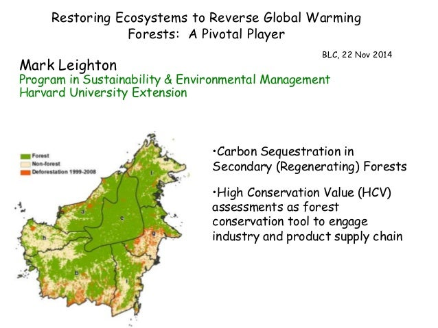 Restoring Ecosystems to Reverse Global Warming  Forests: A Pivotal Player  BLC, 22 Nov 2014  Mark Leighton  Program in Sus...