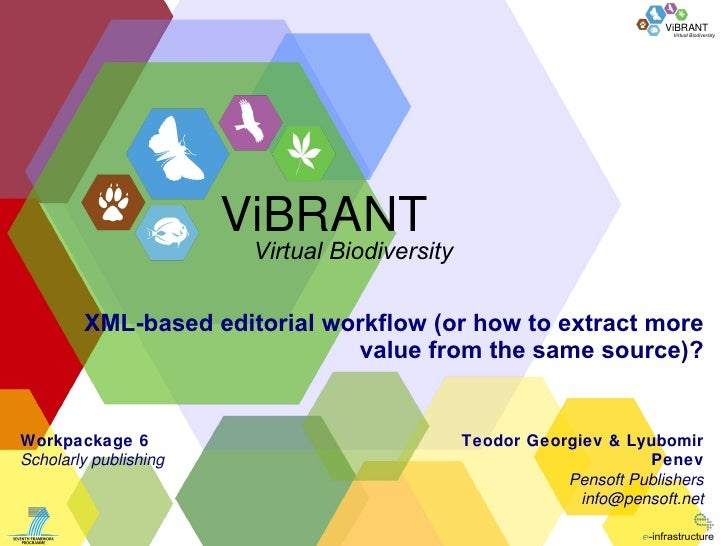 XML-based editorial workflow  ( or how to extract more value from the same source ) ? Teodor Georgiev & Lyubomir Penev Pen...
