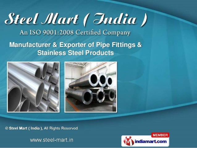 Manufacturer & Exporter of Pipe Fittings &        Stainless Steel Products