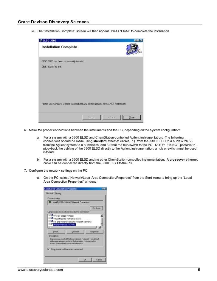 3300 elsd chem station driver instructions