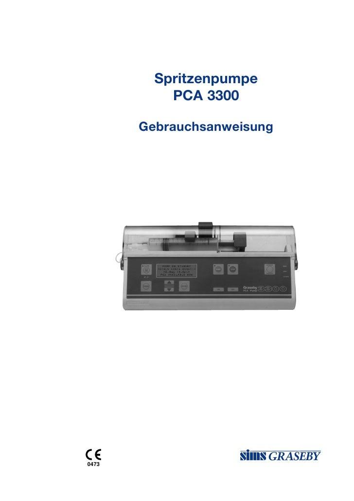 Spritzenpumpe           PCA 3300       Gebrauchsanweisung0473