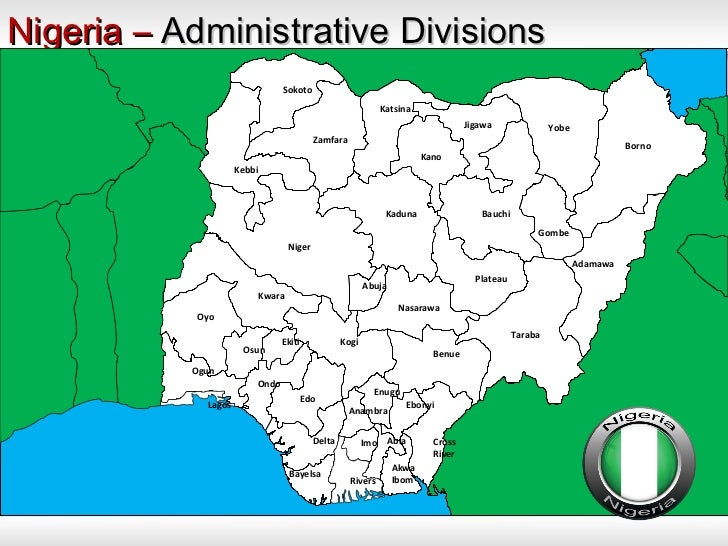 Nigeria States Powerpoint Map Templates Nigeria Powerpoint Map Temp - Nigeria map