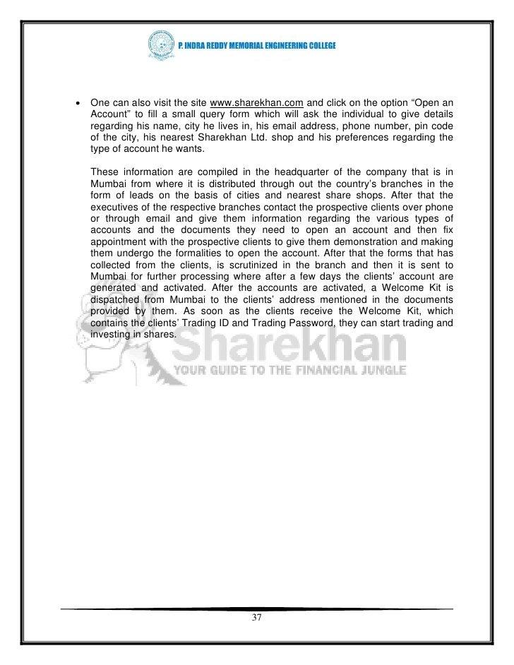 Sharekhan Brokerage Charges | Indian Share broker