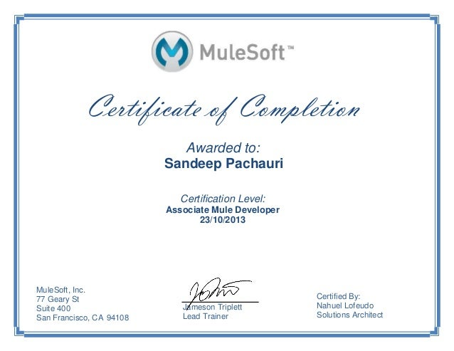 MuleSoft Developer Certificate-Sandeep
