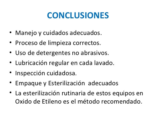 Limpeza y esterilizaci n del instrumental laparosc pico for Metodos de limpieza y desinfeccion en el area de cocina
