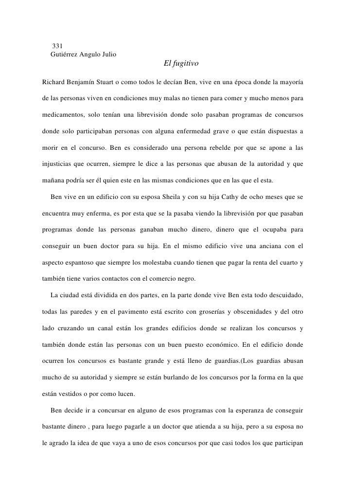 331  Gutiérrez Angulo Julio                                          El fugitivoRichard Benjamín Stuart o como todos le de...