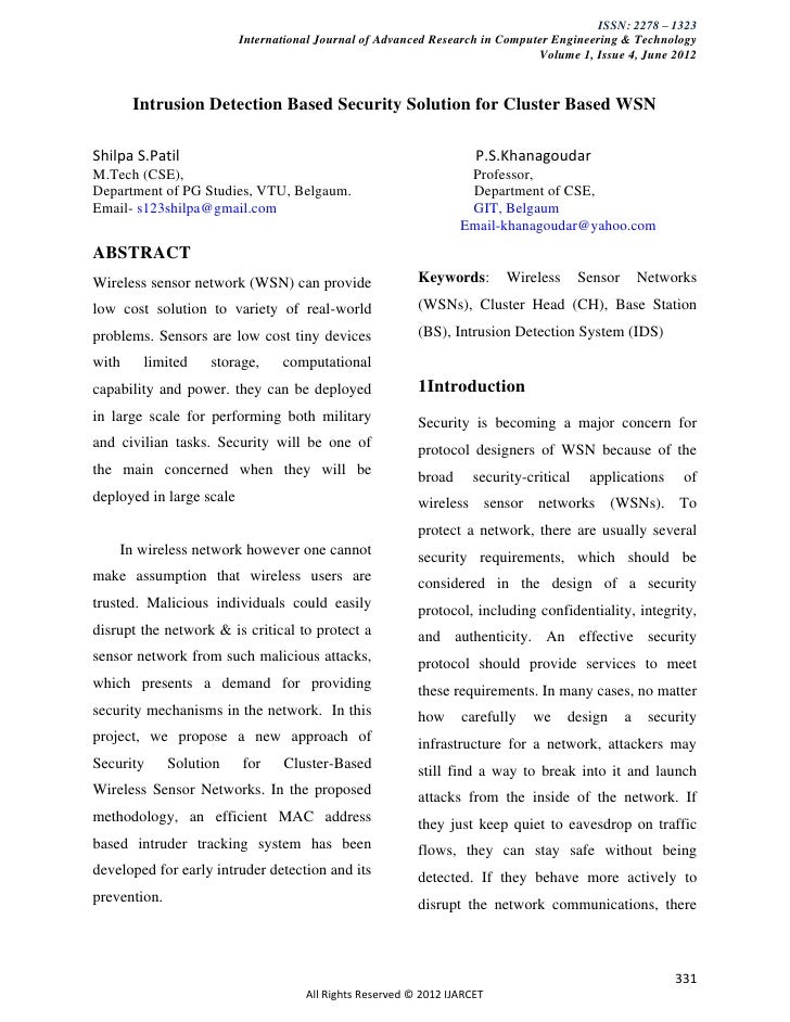 ISSN: 2278 – 1323                          International Journal of Advanced Research in Computer Engineering & Technology...