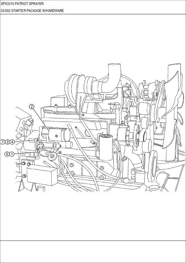 CASE SPX 3310 Patriot sprayer parts catalog