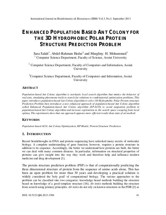 International Journal on Bioinformatics & Biosciences (IJBB) Vol.3, No.3, September 2013 DOI: 10.5121/ijbb.2013.3304 41 EN...
