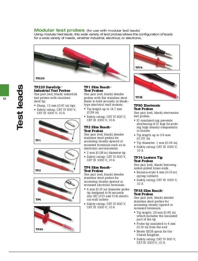 FLUKE TP38 Test probe 10A red and black FLUKE