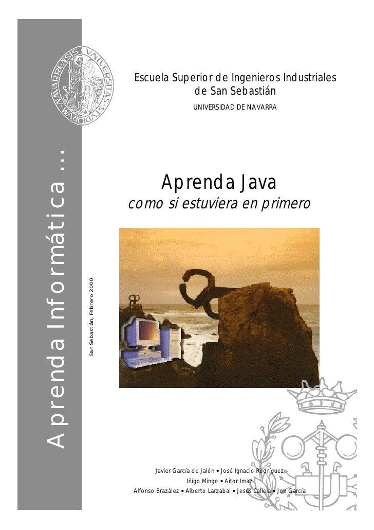Aprenda Java como si estuviera en primero (2000)