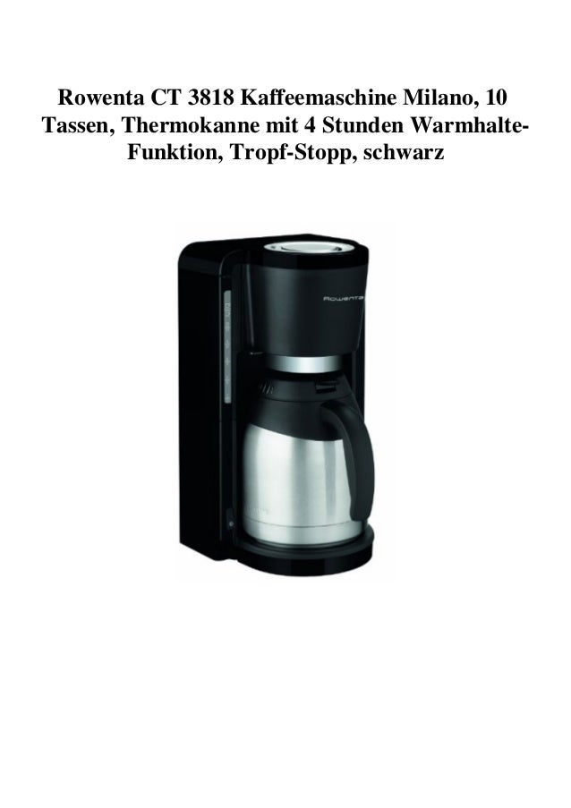 Kaffeemaschine Rowenta CT 3818 Milano schwarz