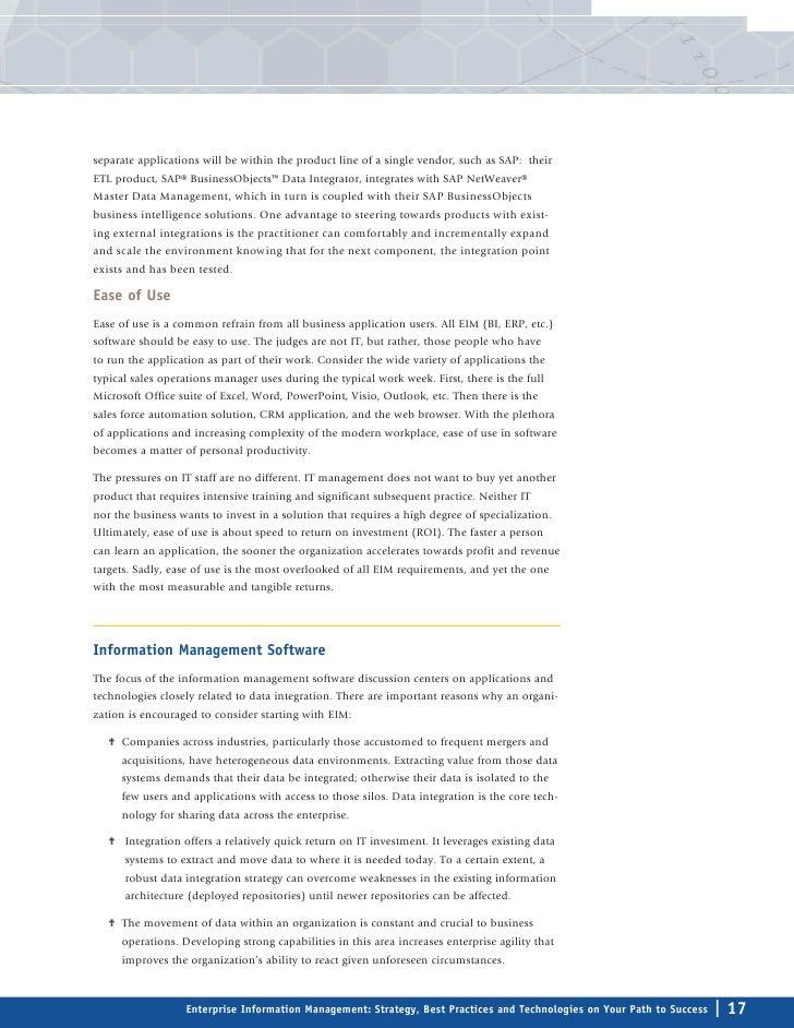 Enterprise Information Management: Strategy, Best Practices & Technol…