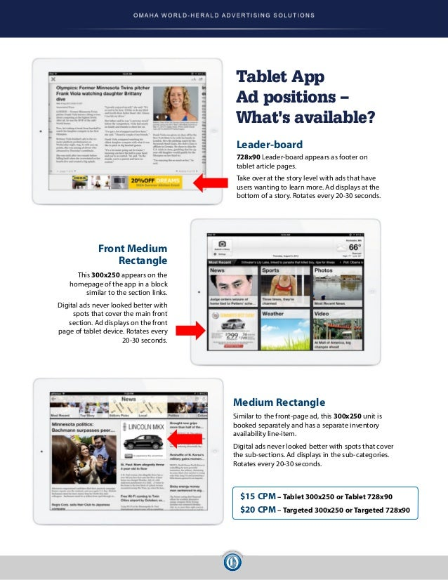 digital advertising rate card  15