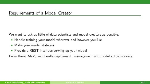 MaaS (Model as a Service): Modern Streaming Data Science with Apache …