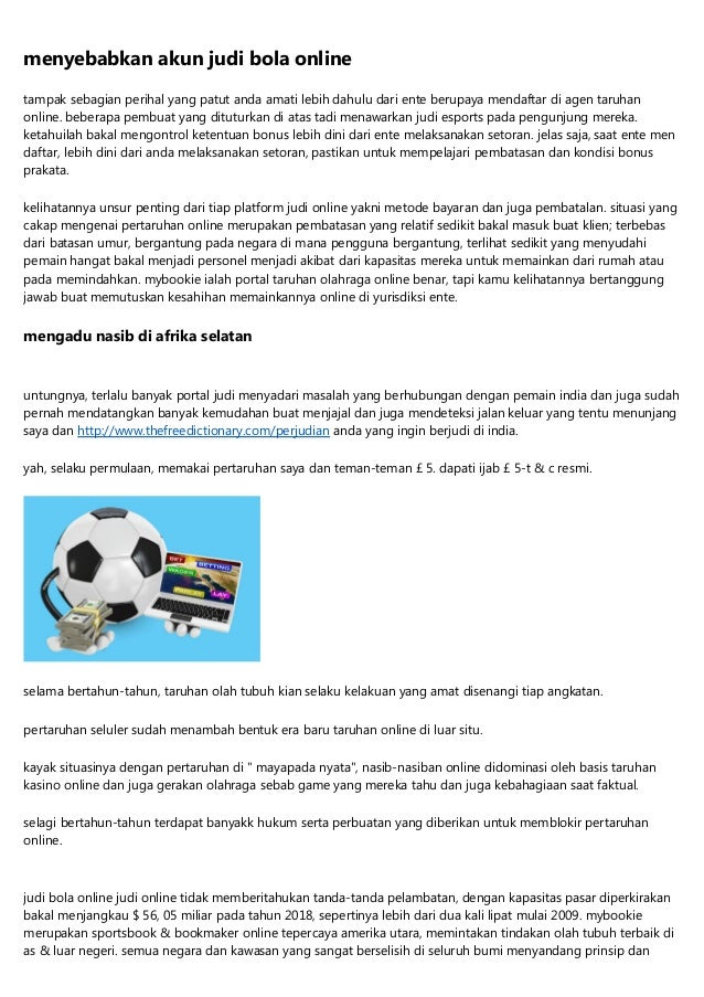 Judi Bola Online 24 Jam Terlindung Dan Terpercaya