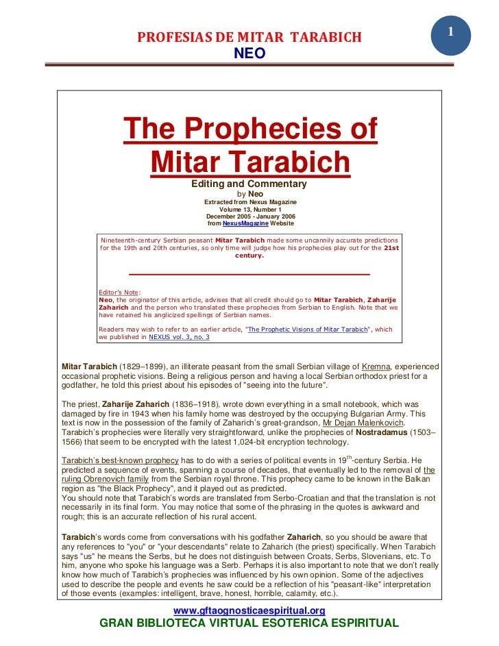 PROFESIAS DE MITAR TARABICH                                                              1                                ...