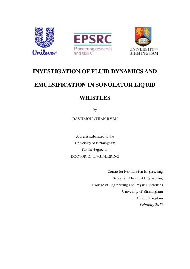 thesis fluid dynamics Fluid structure interaction analysis on the aerodynamic performance of underbody panels master's thesis in uid and solid mechanics jari kesti simon olsson department of applied mechanics division of fluid dynamics chalmers university of technology g oteborg, sweden 2014  fluid structure interaction analysis on the aerodynamic performance.