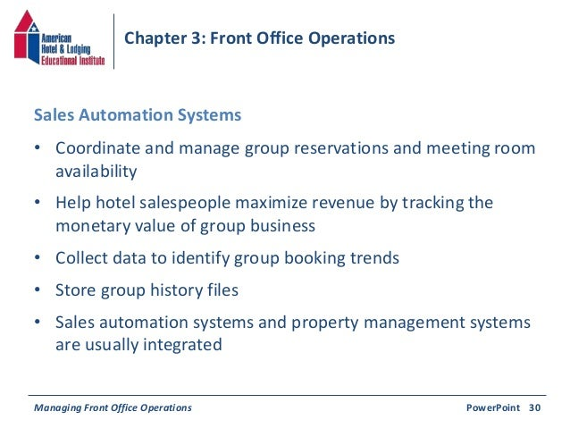 computerisation of office front desk operations
