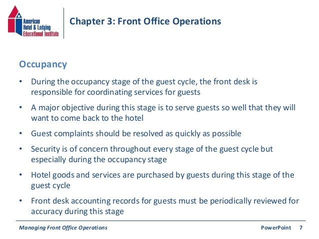 Guest cycle at front office