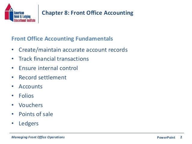 Chapter 8: Front Office Accounting Slide 2
