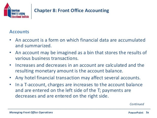 Chapter 8: Front Office Accounting Slide 3