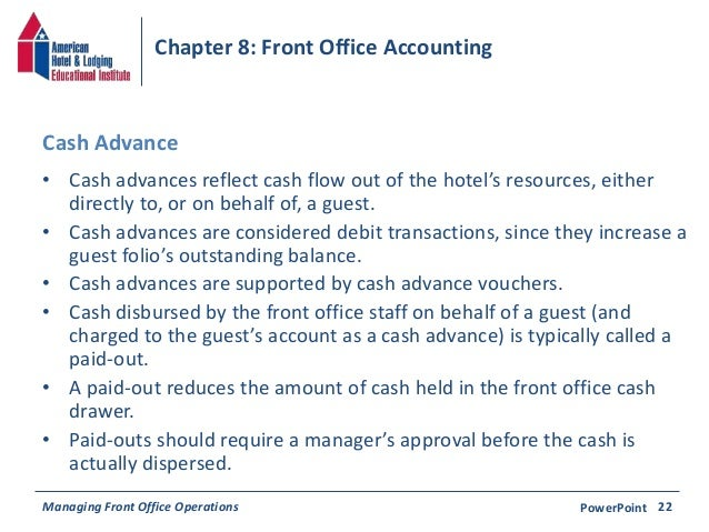 Accounting Procedure For Cash Advance