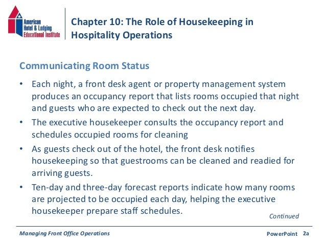 explain the relationship between the housekeeping department and the maintenance department Accident reduction through good housekeeping one of the most important elements of a good housekeeping program is maintenance of buildings and equipment.