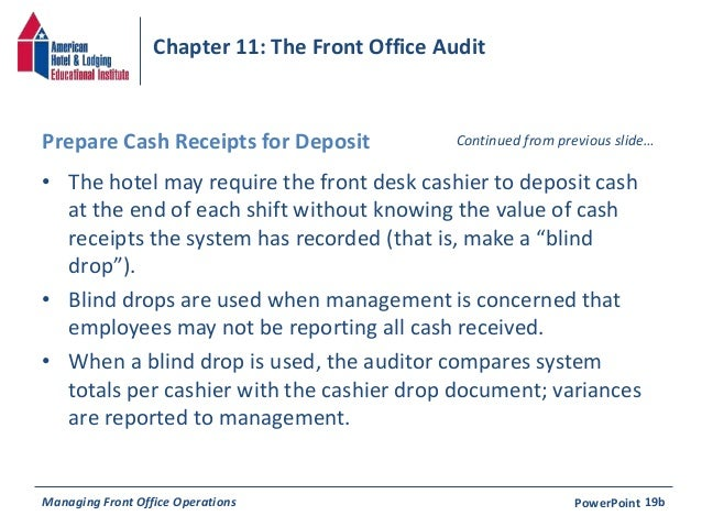 Chapter 11 the front office aduit continued managing front office operations powerpoint 19a 32 altavistaventures