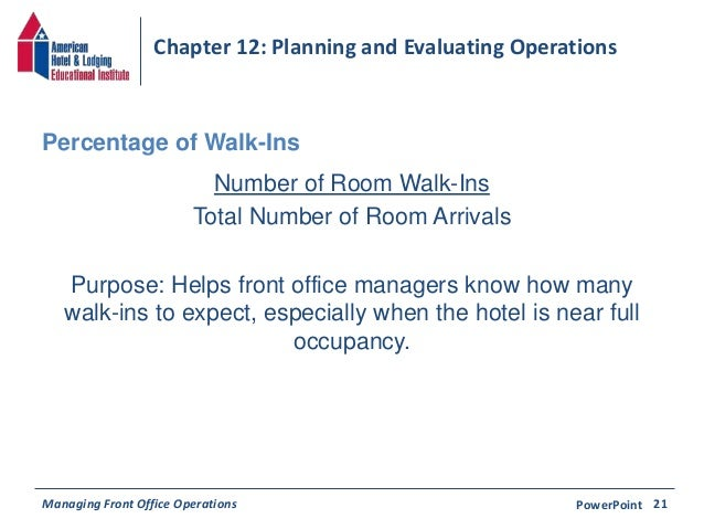 Forecasting hotel arrivals and occupancy