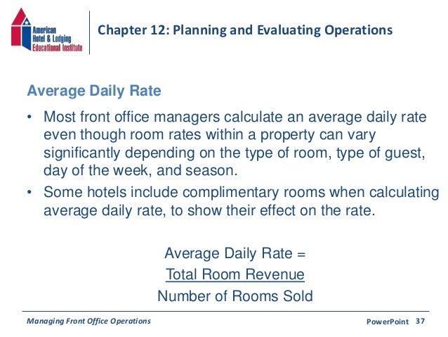 Room Occupancy Rate Formula