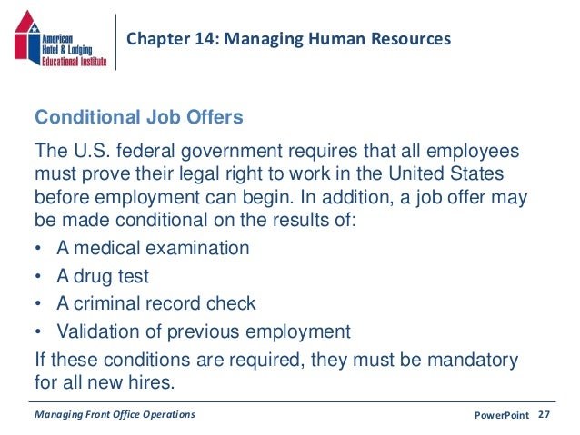Chapter 14 Managing Human Resources