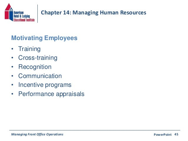 Chapter 14: Managing Human Resources