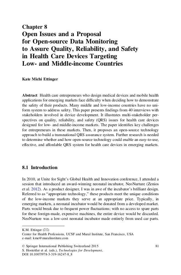 Chapter 8 Open Issues and a Proposal for Open-source Data Monitoring to Assure Quality, Reliability, and Safety in Health ...