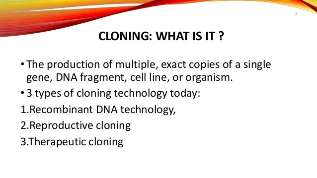 an analysis of the topic of the cloning Human cloning and human dignity: an ethical second, they lend themselves readily to familiar modes of ethical analysis - including concerns about harming the innocent, protecting human rights, and ensuring the consent of all research cloning human beings bethesda, md , 1997.