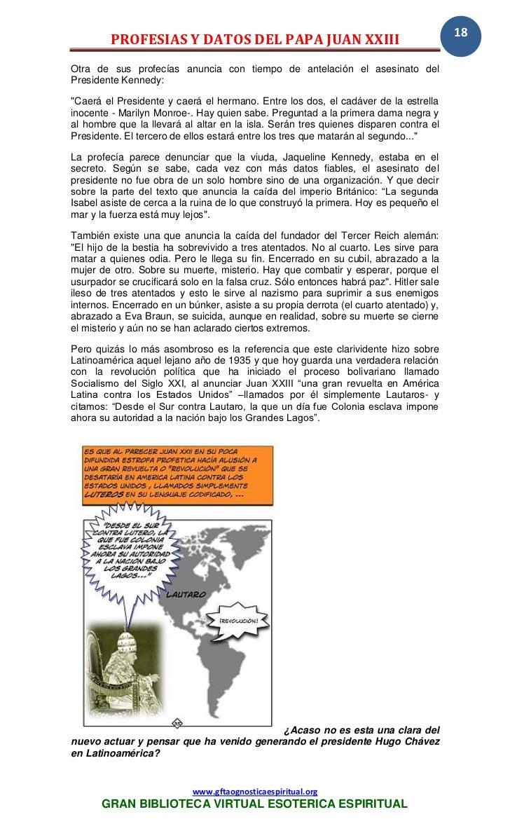 33 35 profesias y datos juan xxiii www for Datos juan polanco