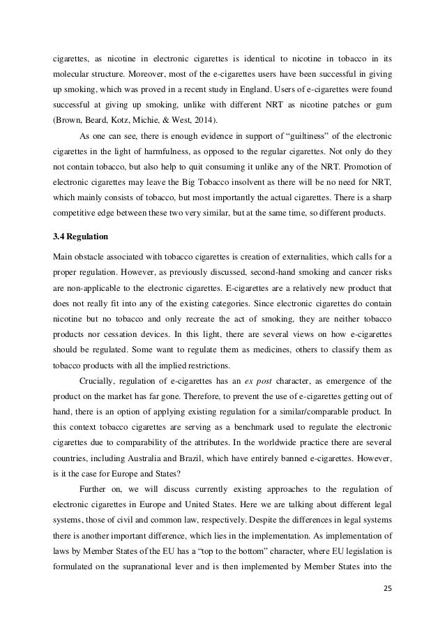 an analysis of the liability of the tobacco industry for its consumers Based on type, the market has been segmented into on cigarettes, smoking tobacco, smokeless tobacco, and cigars and cigarillos cigarettes enjoyed the dominant share in the global market in 2016, accounting for 930% of the overall revenue generated.