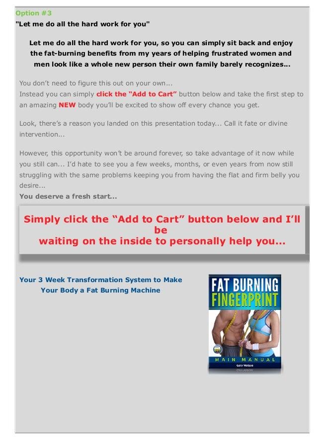 Fat Burning Fingerprint Diet Pdf