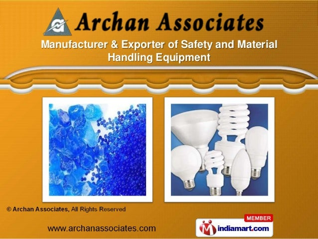 Manufacturer & Exporter of Safety and Material            Handling Equipment