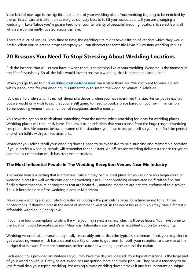 12 Do S And Don Ts For A Successful Elegant Wedding Venues Near Me