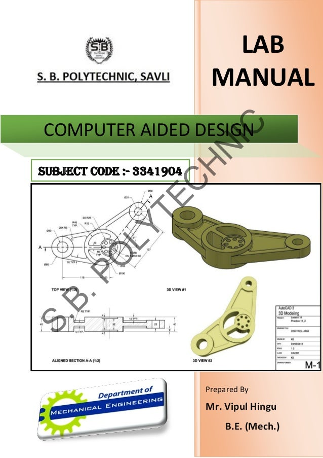 3341904 cad lab manual prepared by vipul hingu rh slideshare net