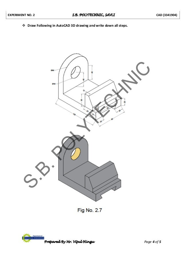 3341904 cad lab manual prepared by vipul hingu rh slideshare net cad lab manual 6th sem cad lab manual for mechanical engineering