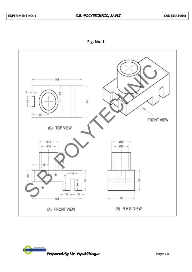 3341904 cad lab manual prepared by vipul hingu rh slideshare net Civil Engineering Logo Civil Engineering AutoCAD Drawings