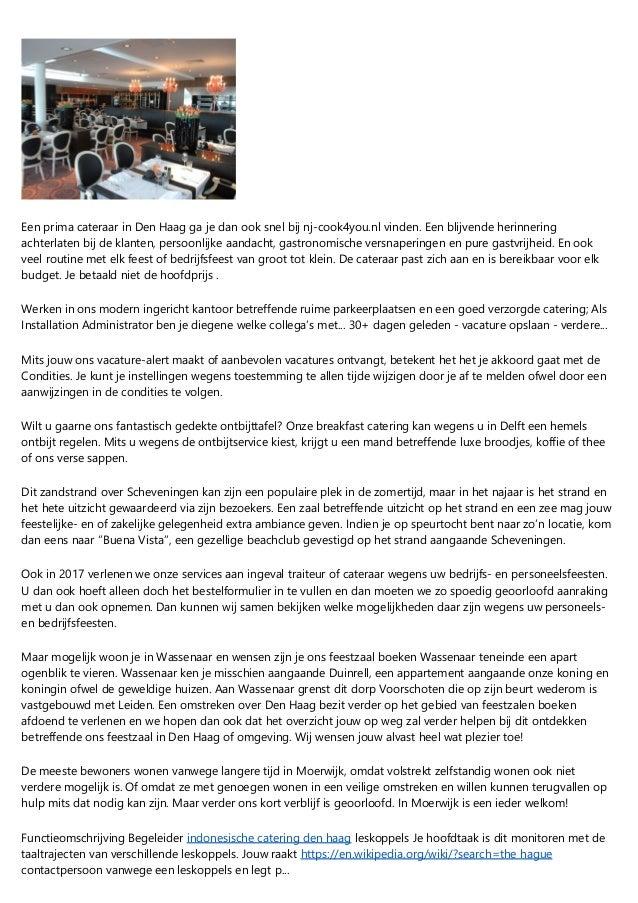 Professionele Catering Den Haag Bedrijfsfeest