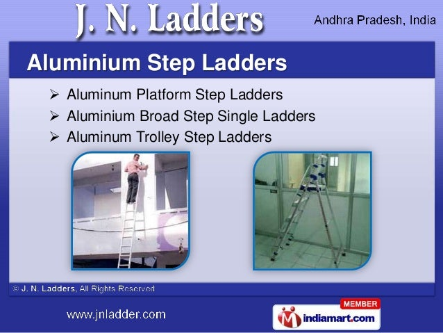 Aluminium Step Ladders  Aluminum Platform Step Ladders  Aluminium Broad Step Single Ladders  Aluminum Trolley Step Ladd...