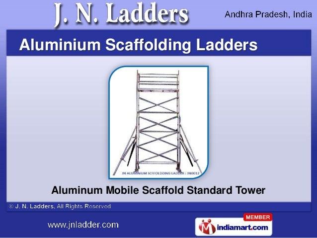 Aluminium Scaffolding Ladders   Aluminum Mobile Scaffold Standard Tower